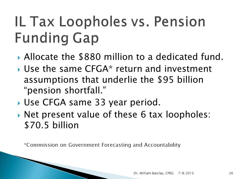 IL Tax Loopholes vs. Pension Funding Gap