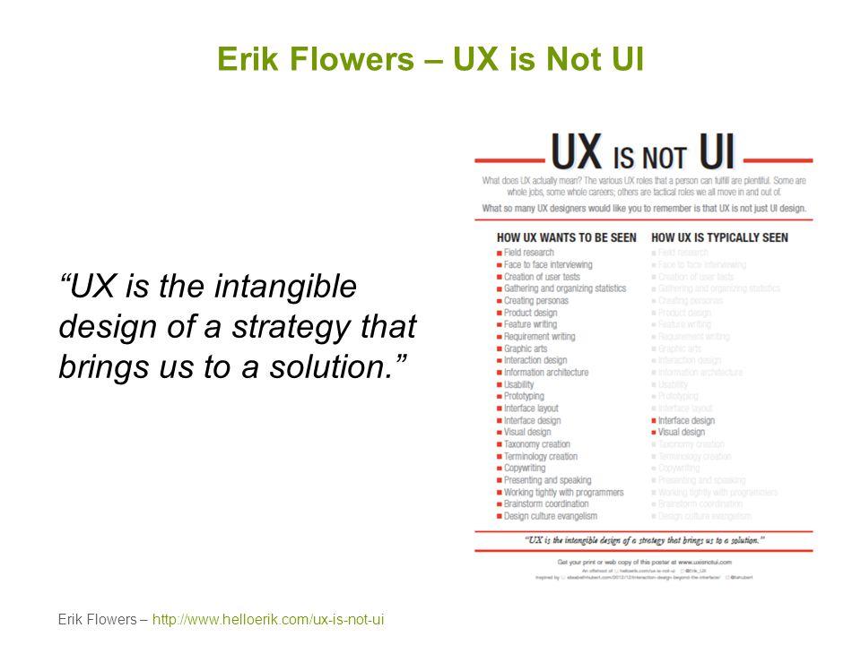 Erik Flowers – UX is Not UI