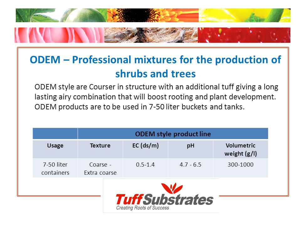 ODEM – Professional mixtures for the production of shrubs and trees