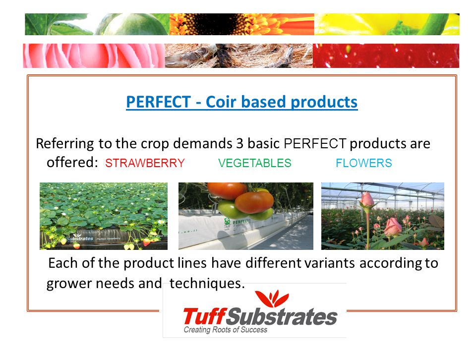 PERFECT - Coir based products