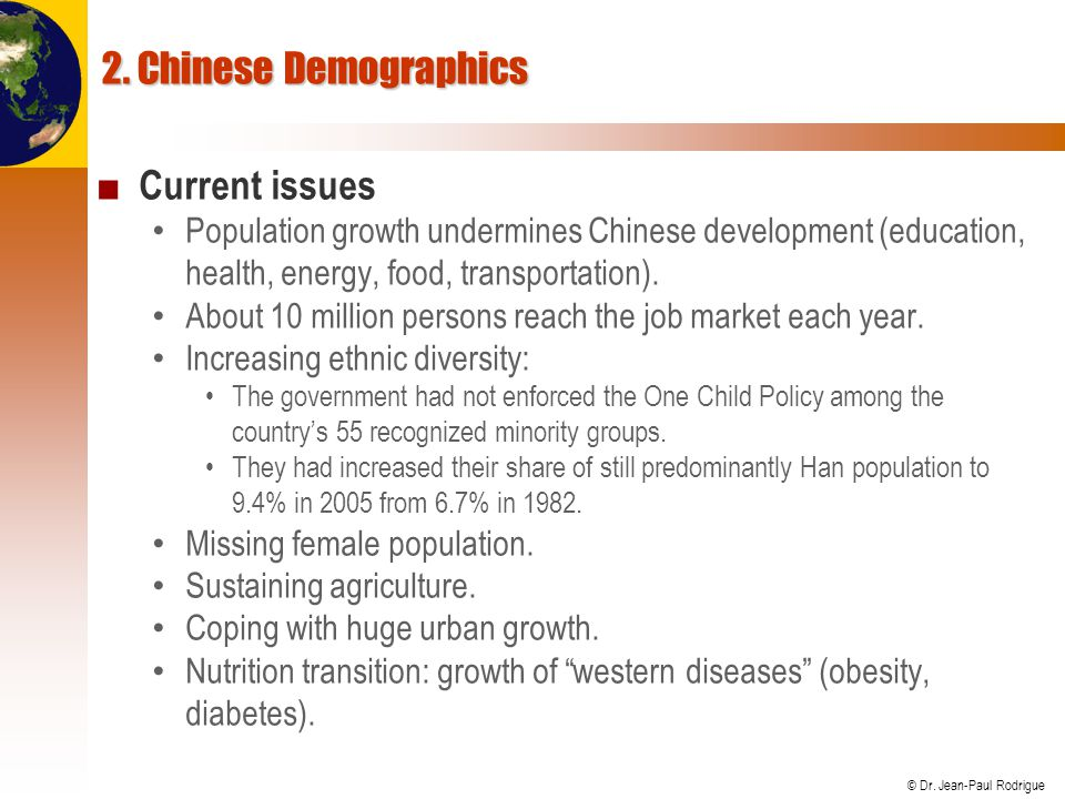 2. Chinese Demographics Current issues