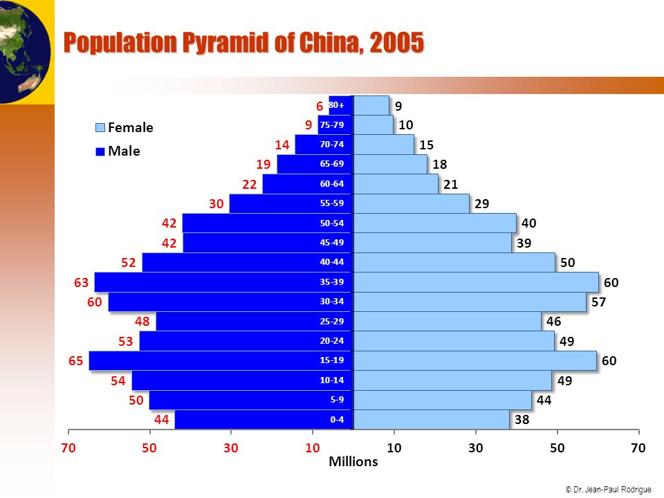 Population Pyramid of China, 2005