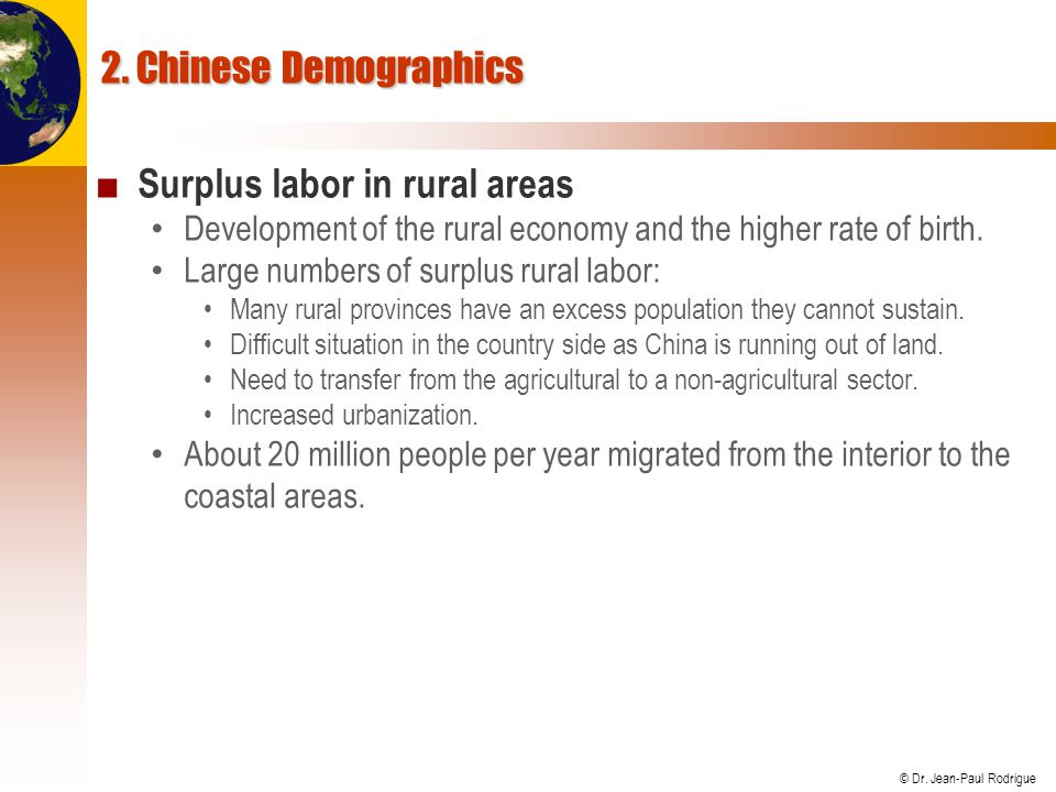 Surplus labor in rural areas
