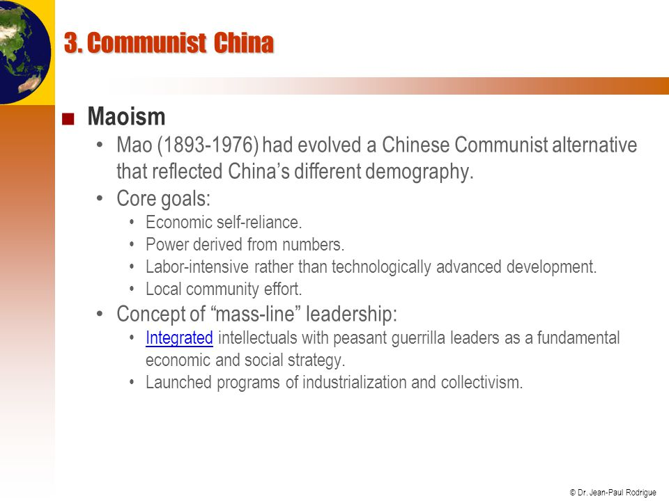 3. Communist China Maoism