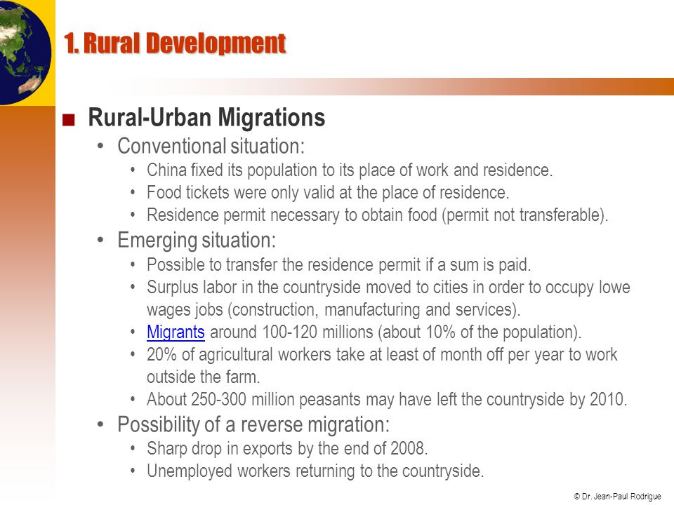 Rural-Urban Migrations