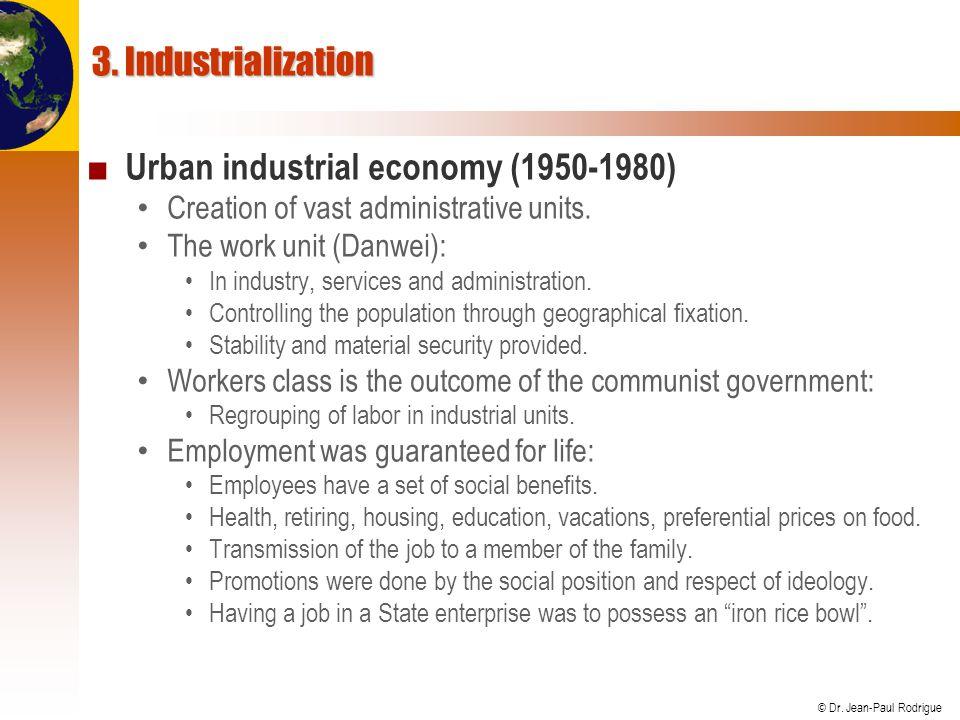 Urban industrial economy (1950-1980)