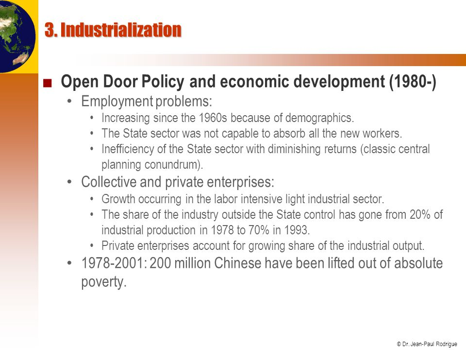 Open Door Policy and economic development (1980-)