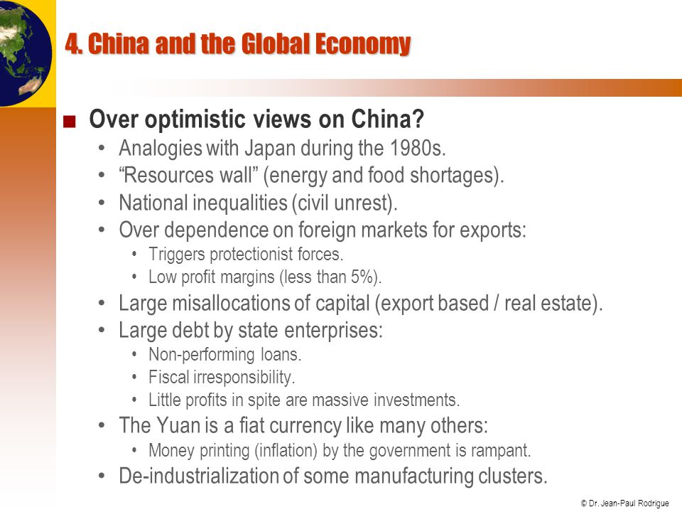 4. China and the Global Economy