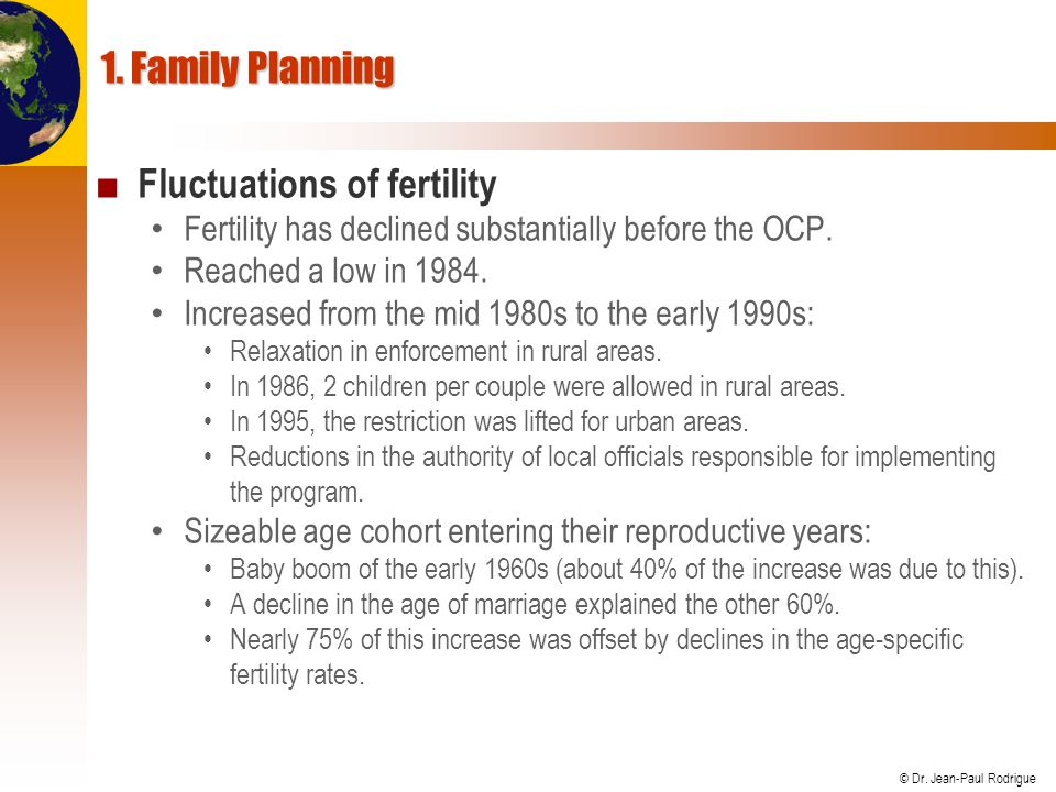Fluctuations of fertility