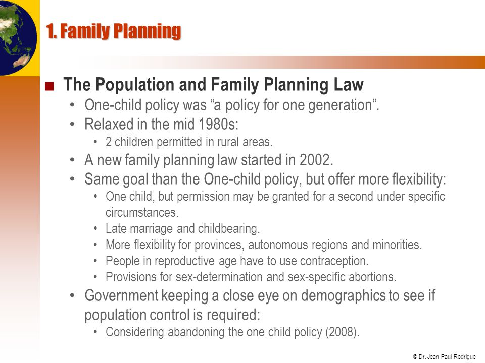 The Population and Family Planning Law