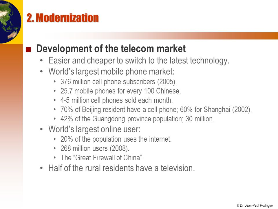 Development of the telecom market