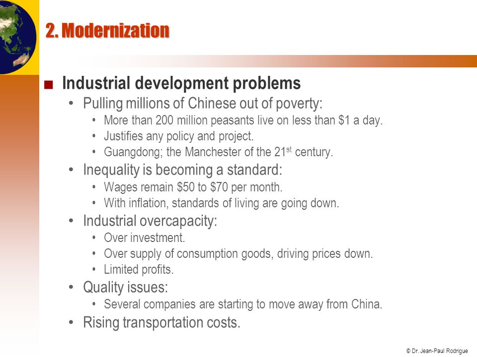 Industrial development problems