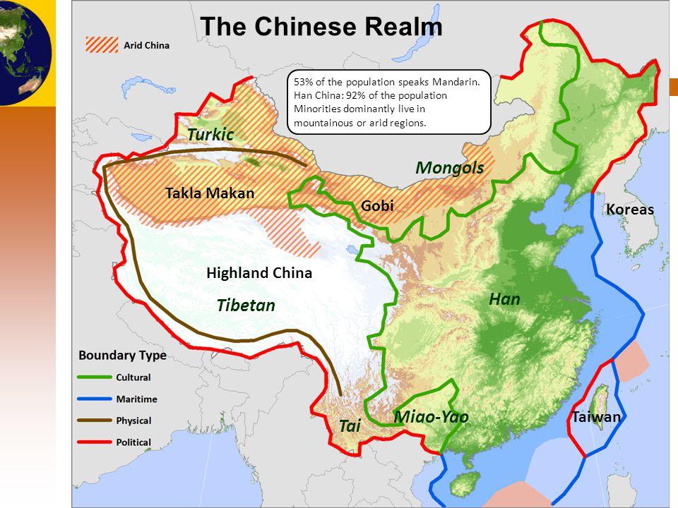 The Chinese Realm Turkic Mongols Han Tibetan Miao-Yao Tai Takla Makan