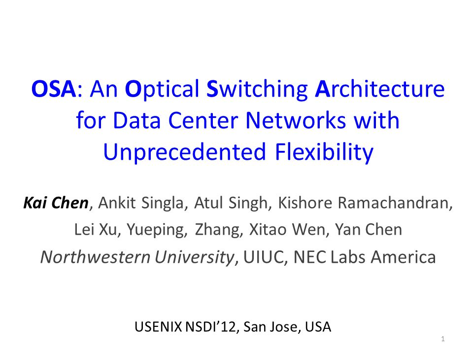 OSA: An Optical Switching Architecture for Data Center Networks with Unprecedented Flexibility
