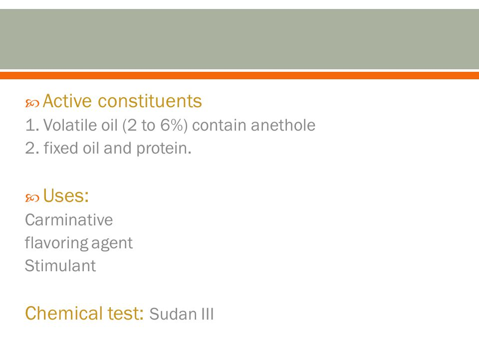 Chemical test: Sudan III