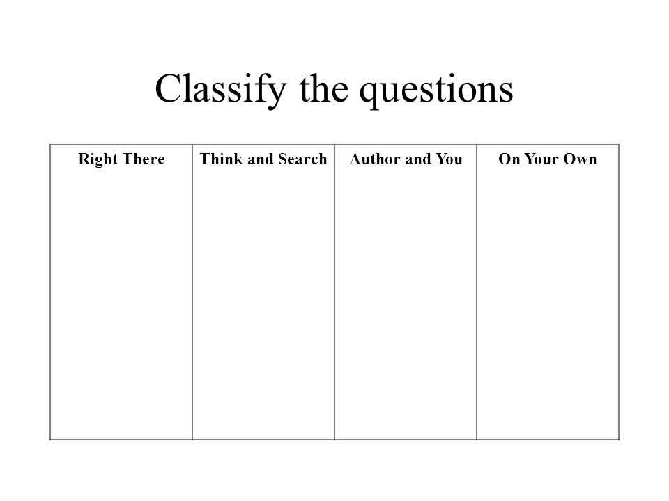 Classify the questions