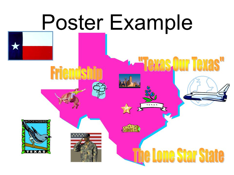 Poster Example Texas Our Texas Friendship The Lone Star State