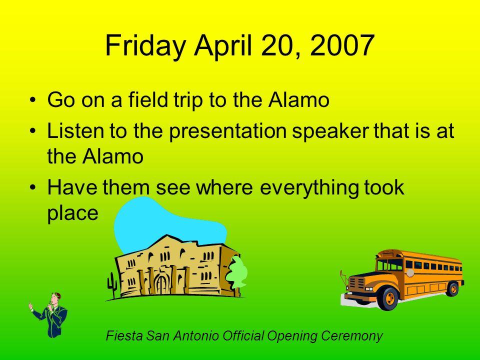 Fiesta San Antonio Official Opening Ceremony