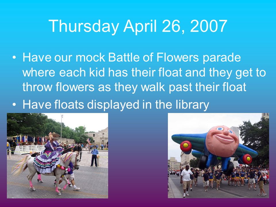 Thursday April 26, 2007