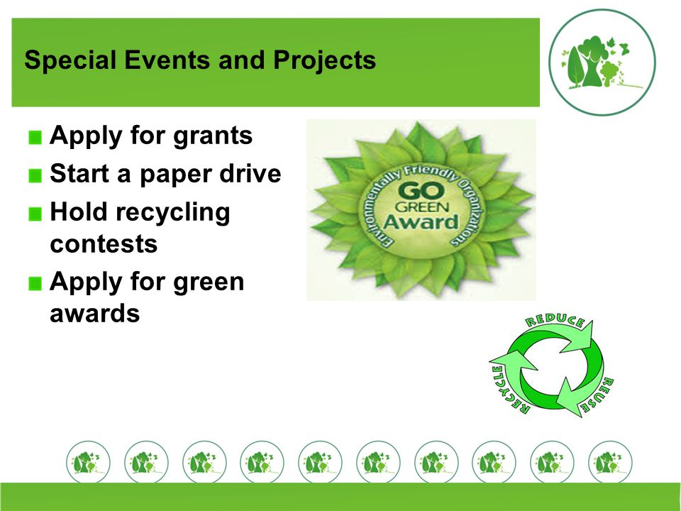 Special Events and Projects