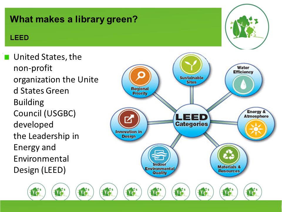 What makes a library green