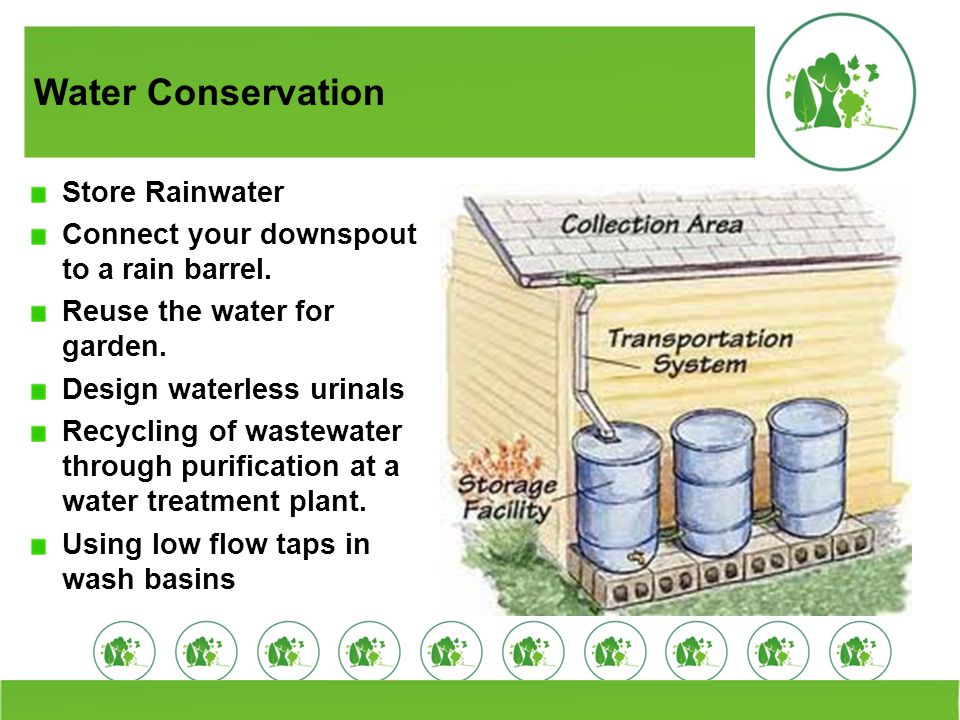 Water Conservation Store Rainwater