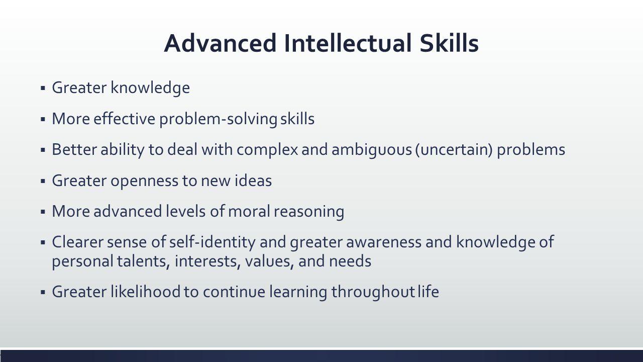 Advanced Intellectual Skills