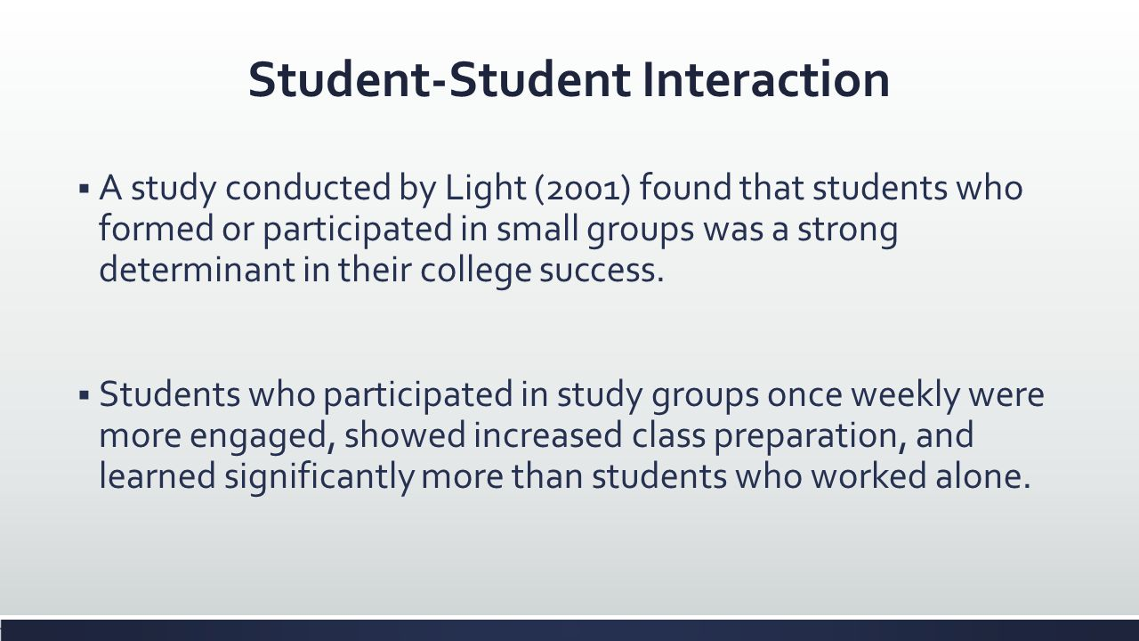 Student-Student Interaction