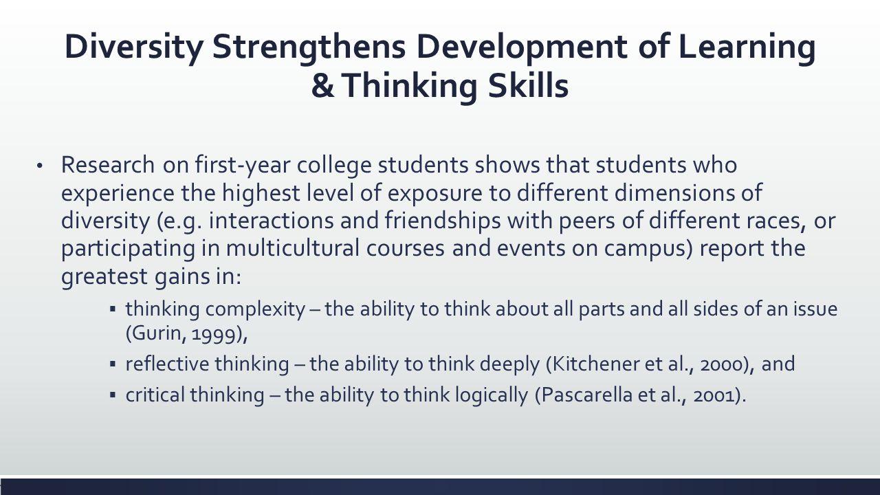 Diversity Strengthens Development of Learning & Thinking Skills