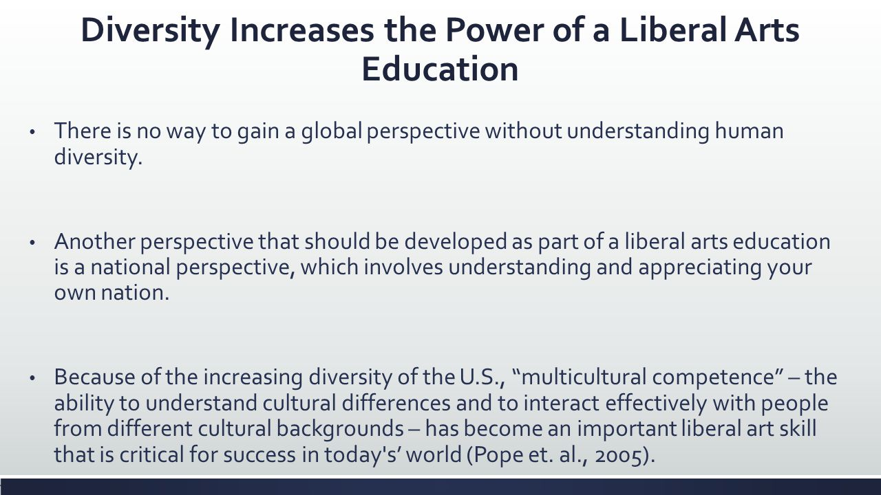 Diversity Increases the Power of a Liberal Arts Education