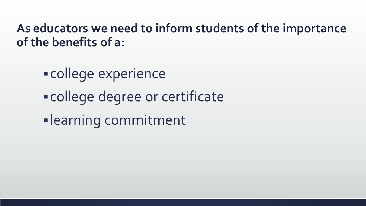 college degree or certificate learning commitment