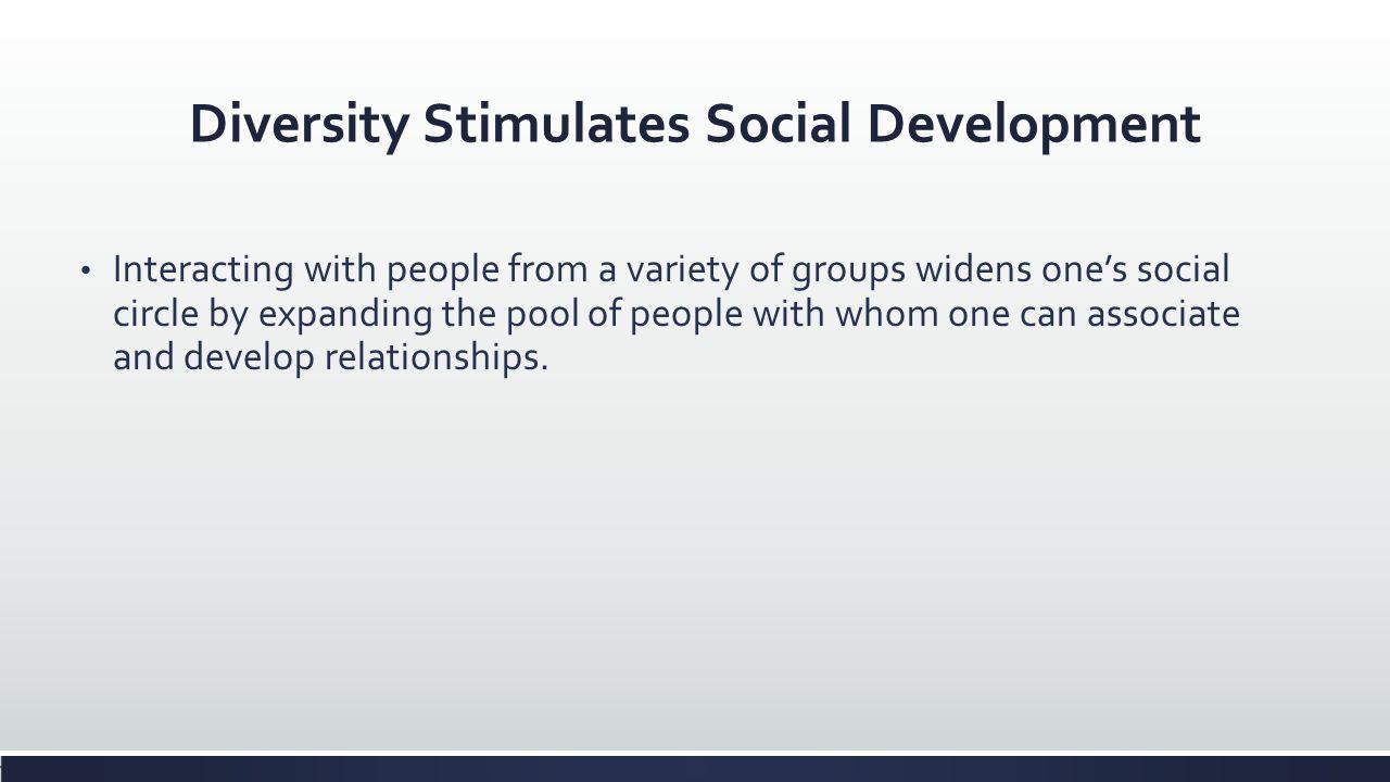 Diversity Stimulates Social Development