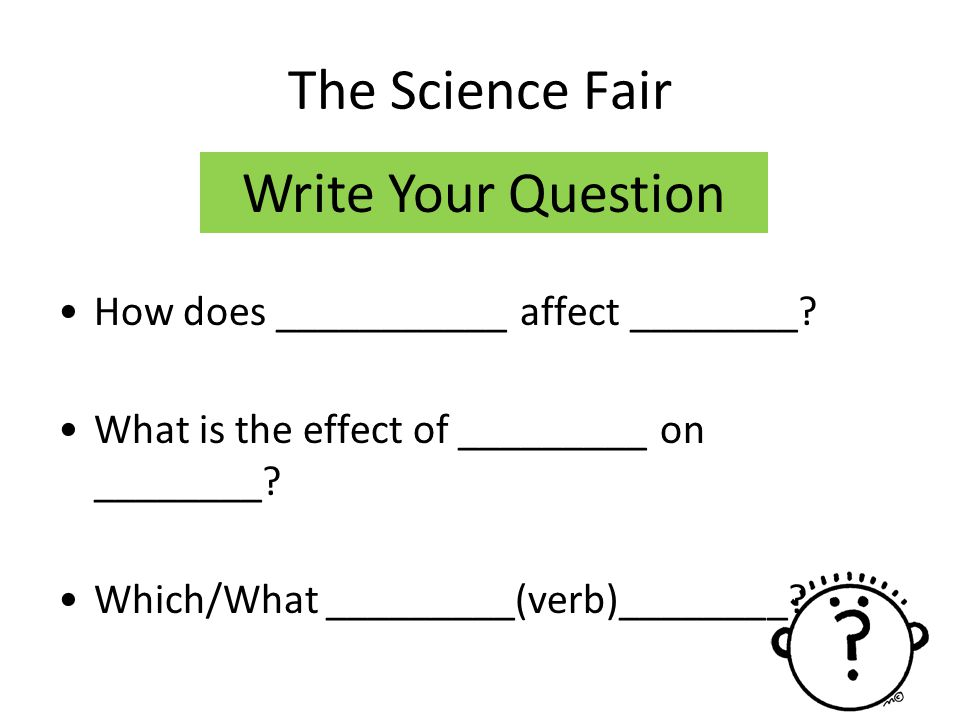 The Science Fair Write Your Question