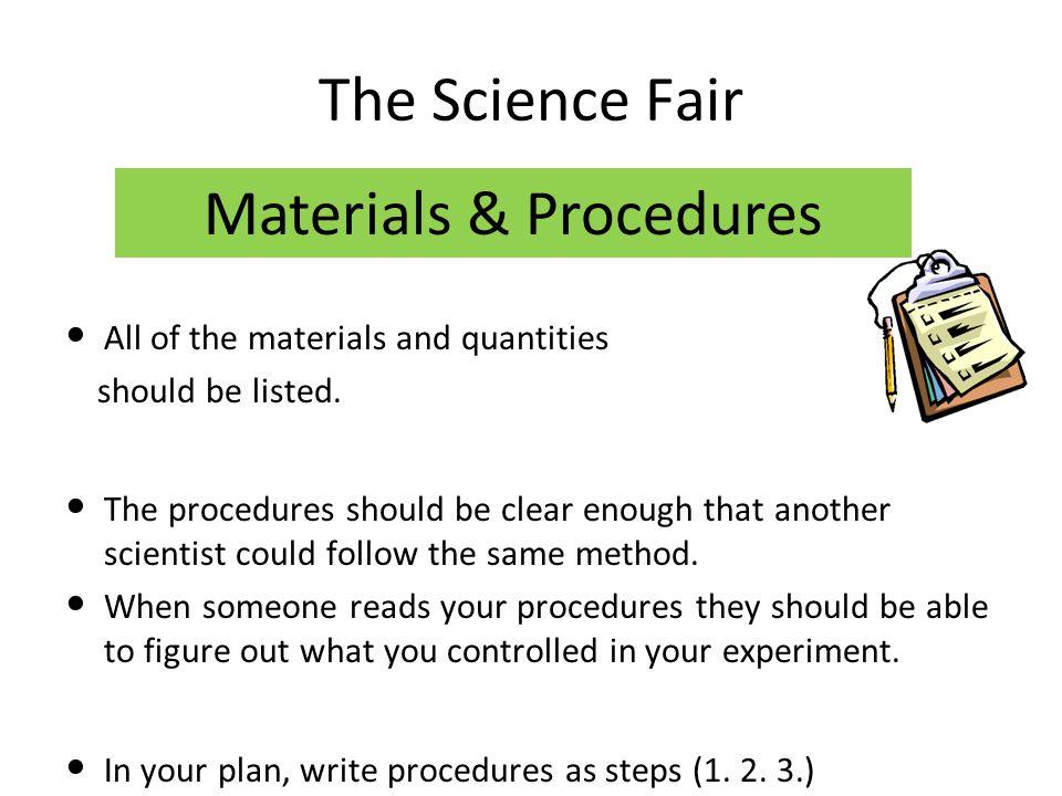 Materials & Procedures