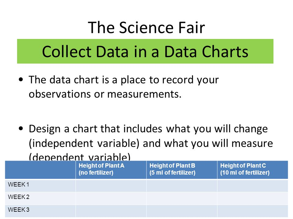 Collect Data in a Data Charts