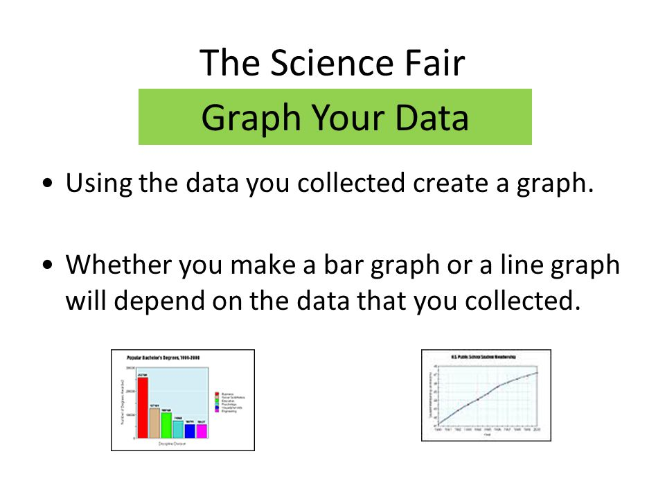 The Science Fair Graph Your Data