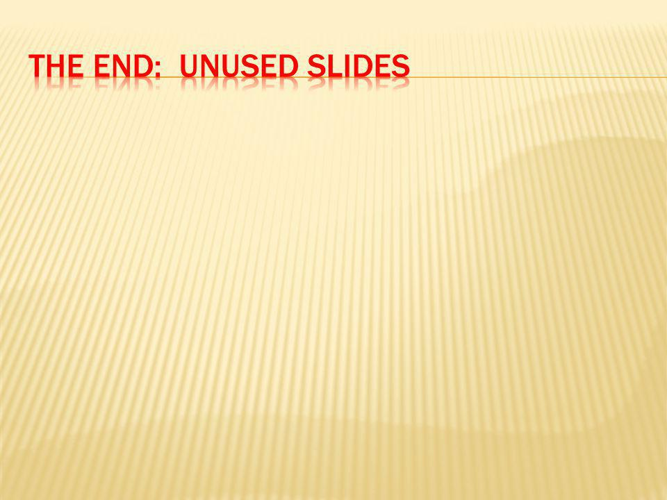 The end: unused slides