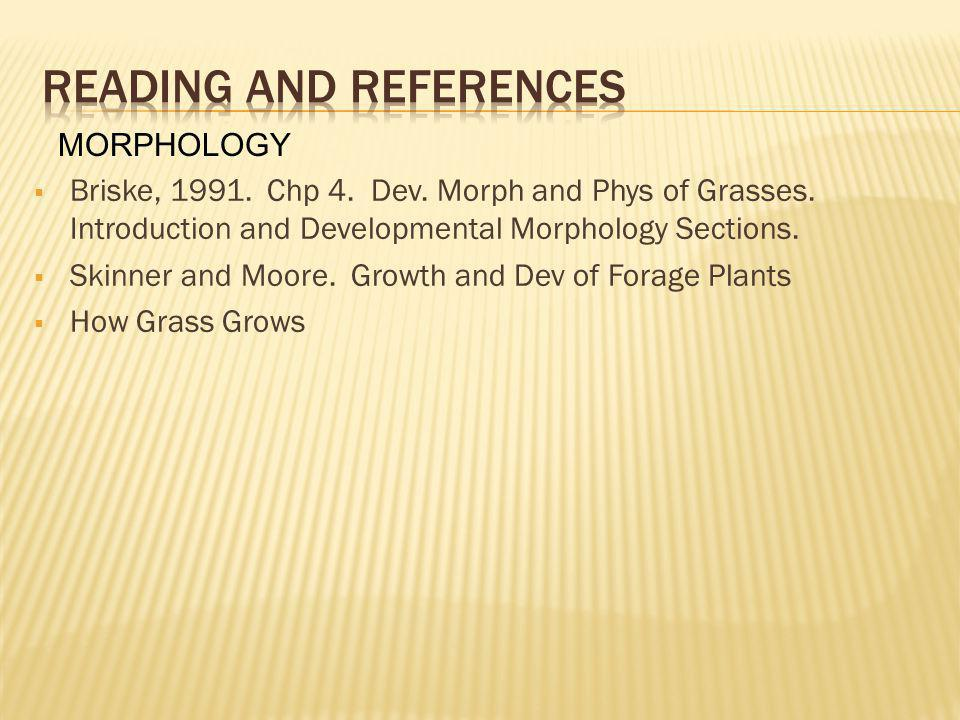 Reading and references