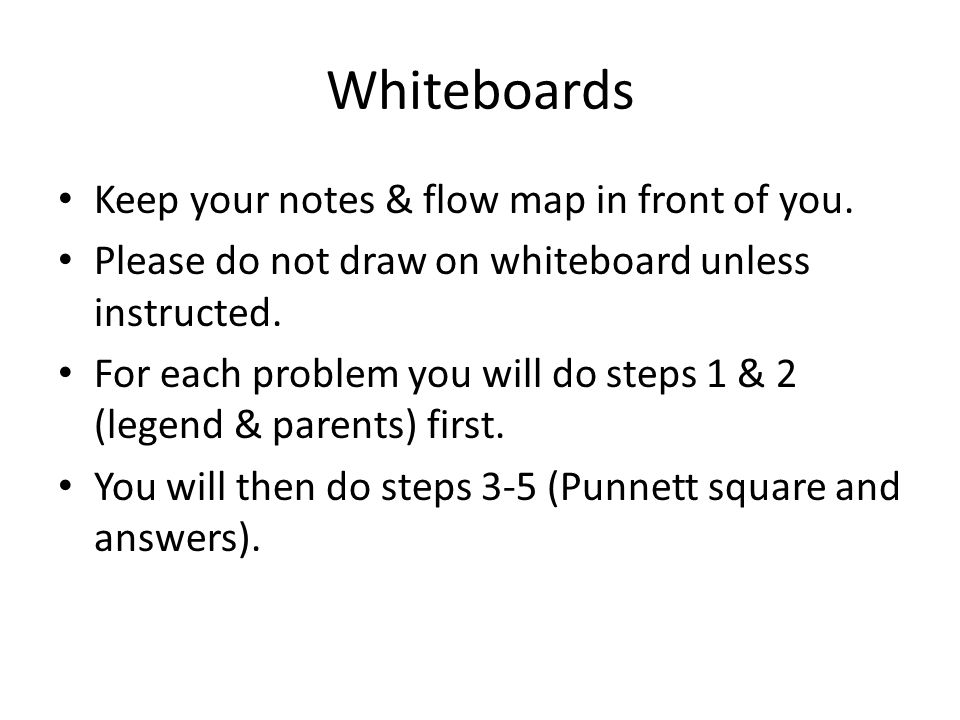 Whiteboards Keep your notes & flow map in front of you.
