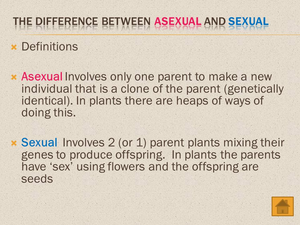 The difference between asexual and sexual