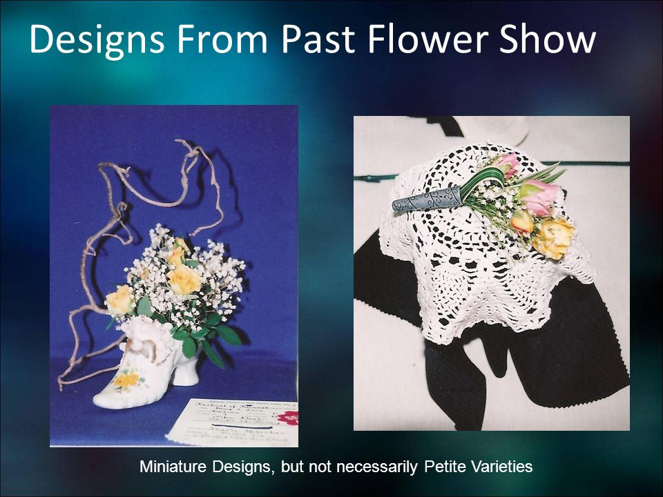 Designs From Past Flower Show