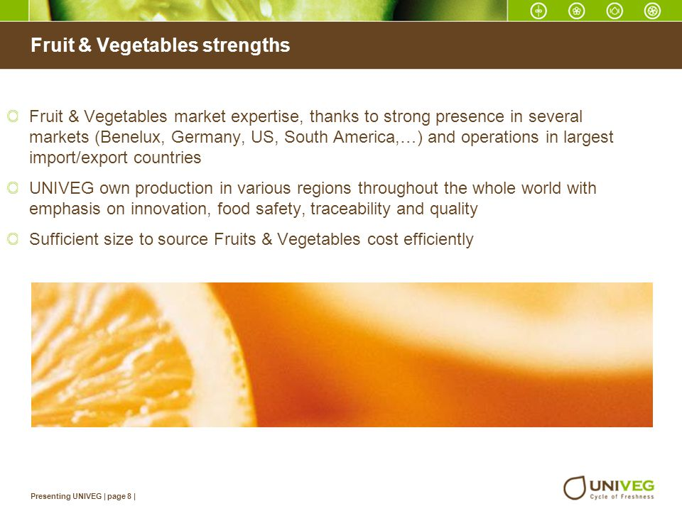Fruit & Vegetables strengths