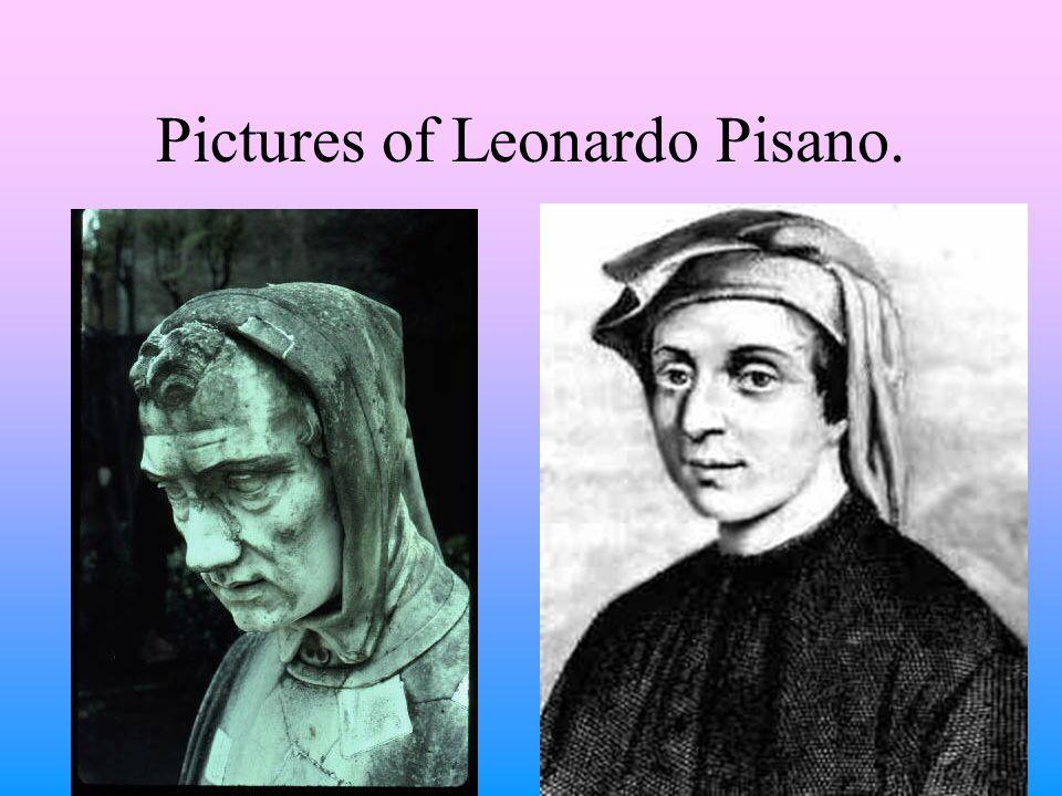 Pictures of Leonardo Pisano.
