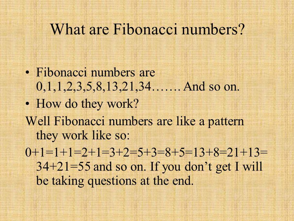 What are Fibonacci numbers