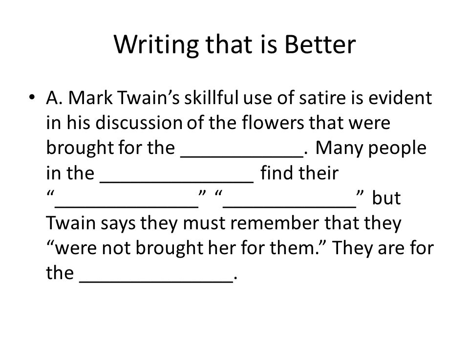 Writing that is Better