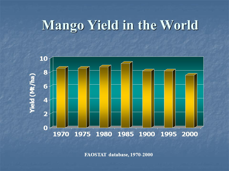 Mango Yield in the World
