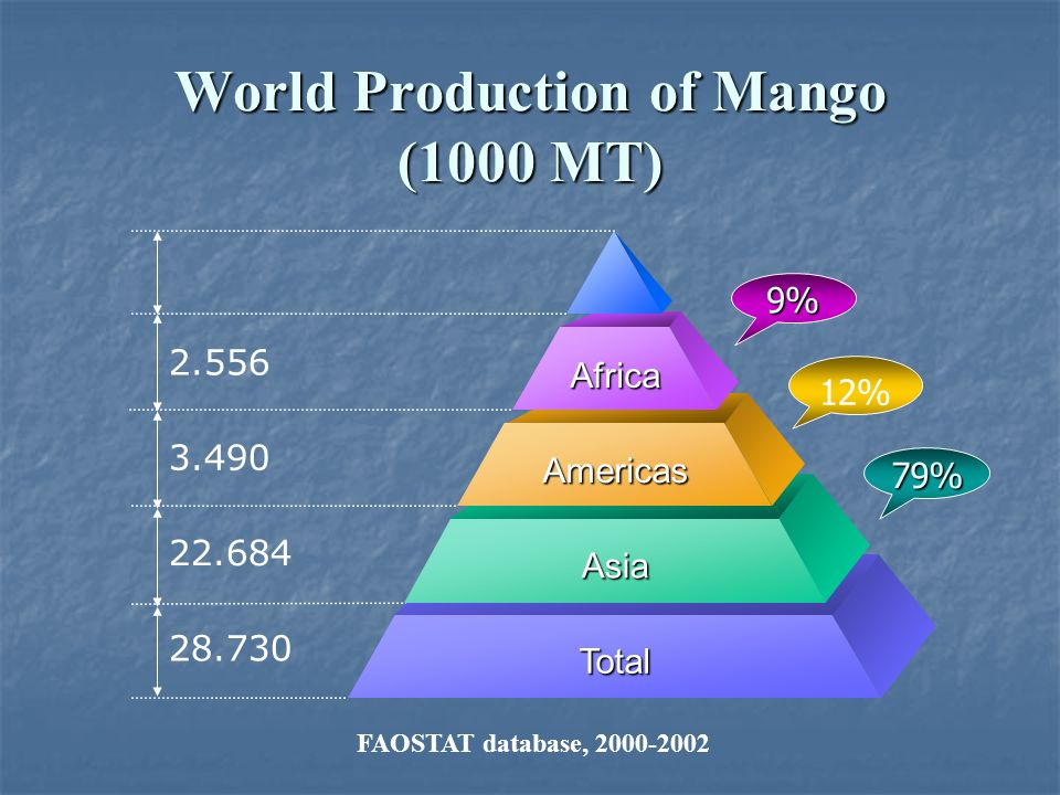 World Production of Mango (1000 MT)