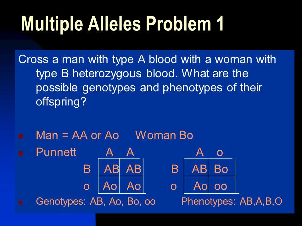 Multiple Alleles Problem 1