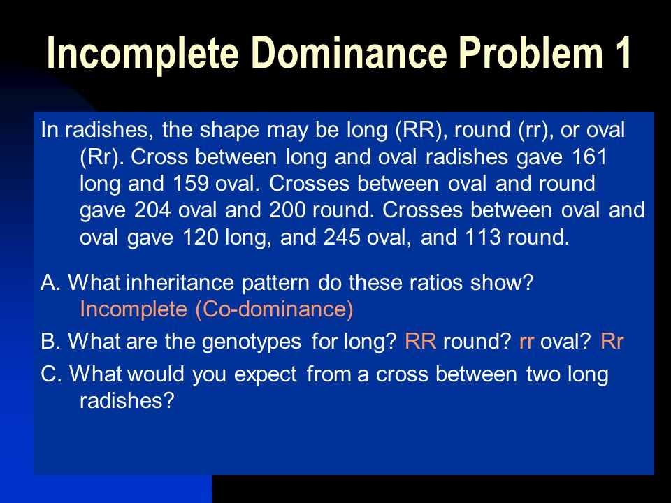 Incomplete Dominance Problem 1