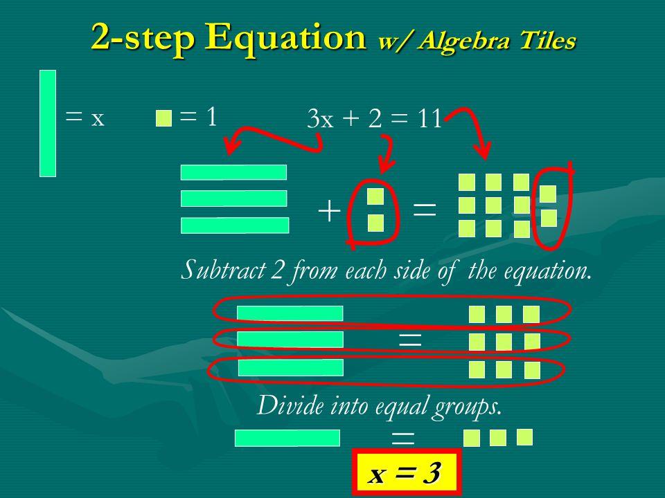 2-step Equation w/ Algebra Tiles